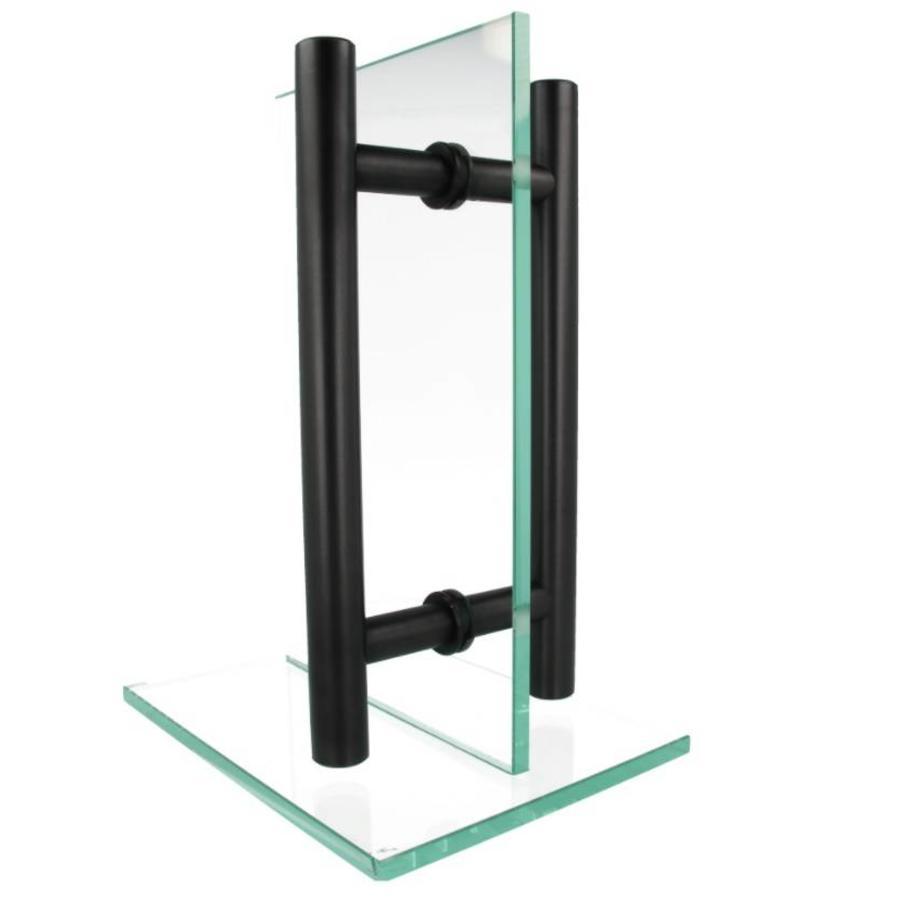 Deurgrepen T 25/300/400 zwart paar voor voor deurdikte > 3cm