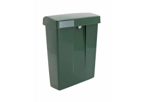 Boîte aux lettres en plastique vert avec serrure