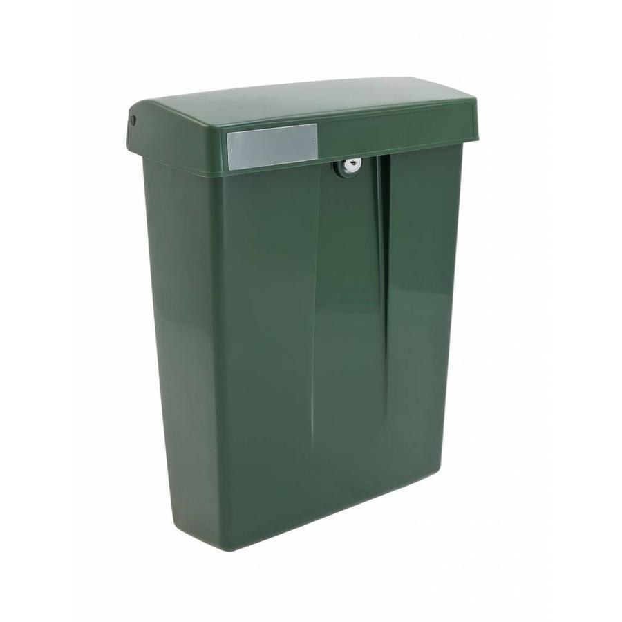 Intersteel postkast met slot (2 sleutels) Groen kunststof RAL6009