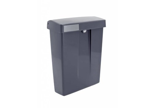 Boîte aux lettres en plastique gris avec serrure