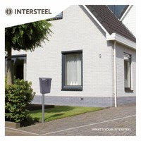 Intersteel postkast met slot (2 sleutels) Grijs kunststof RAL7016