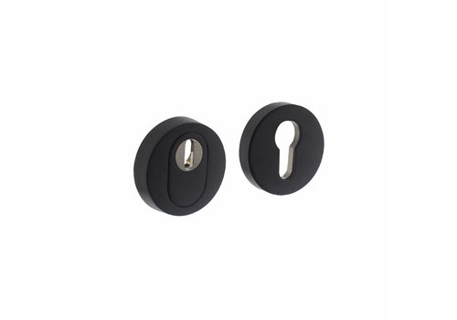 SKG3 Security escutcheon round concealed with core pull protection stainless steel/mat black