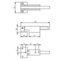 SKG kierstandhouder 480051 Bauhaus naar binnendraaiend geborsteld RVS