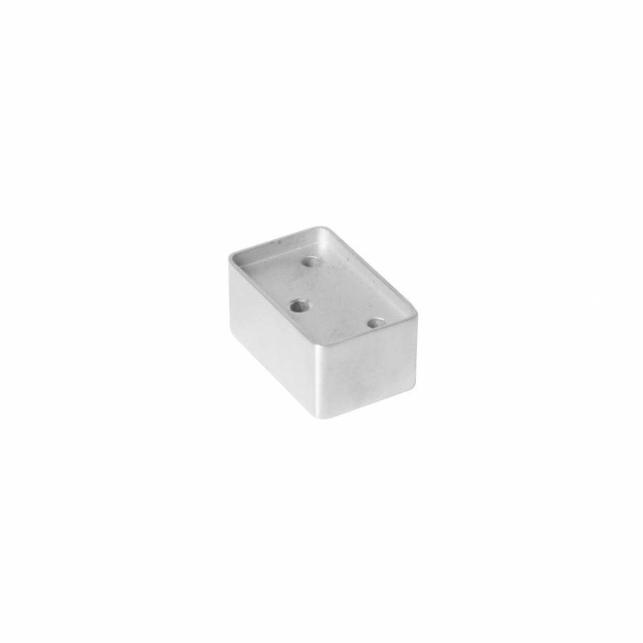 Opvulblok 20 mm voor kierstandhouders bij opdekdeuren rvs geborsteld