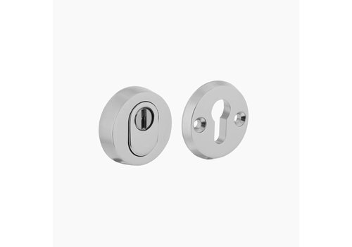 Aluminum safety rosette SKG3 round with core pull protection