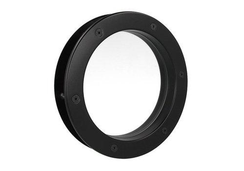 Zwarte patrijspoort B4000 350 mm + doorzichtig veiligheidsglas