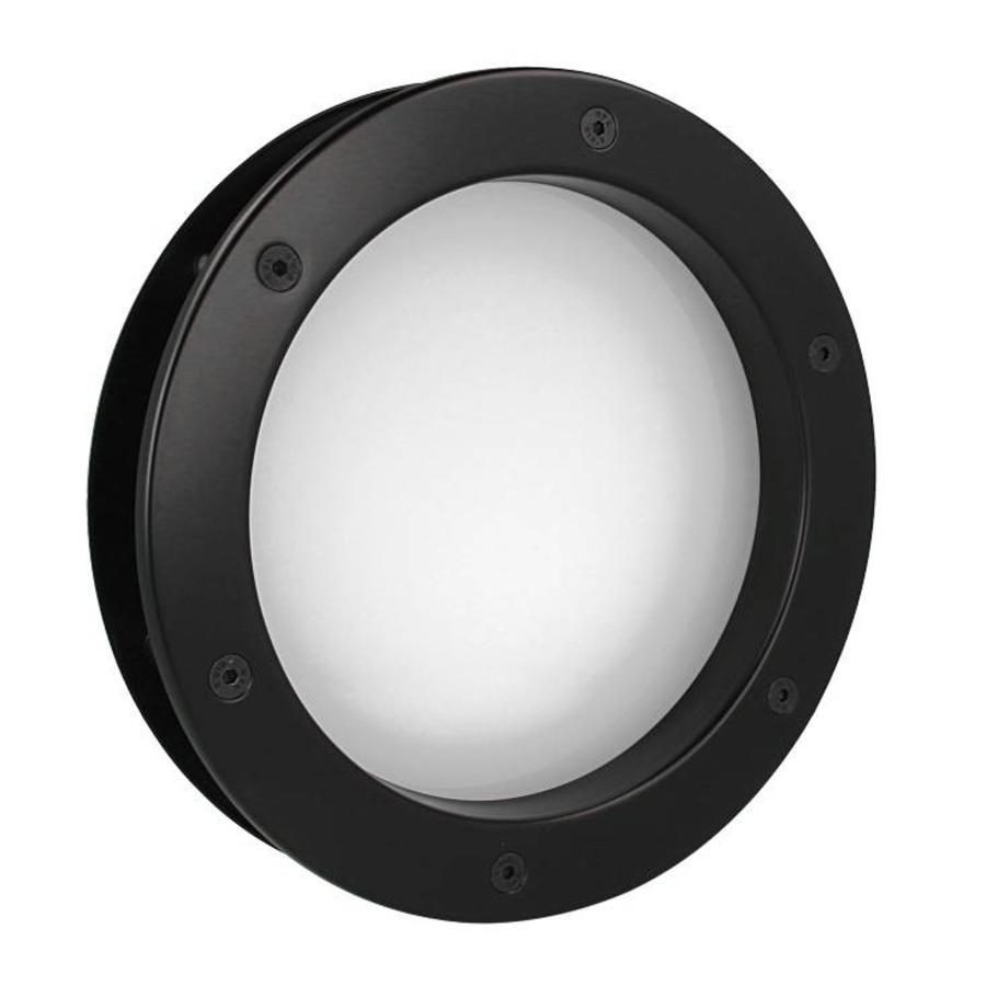 Zwarte patrijspoort B4000 300 mm + doorzichtig veiligheidsglas