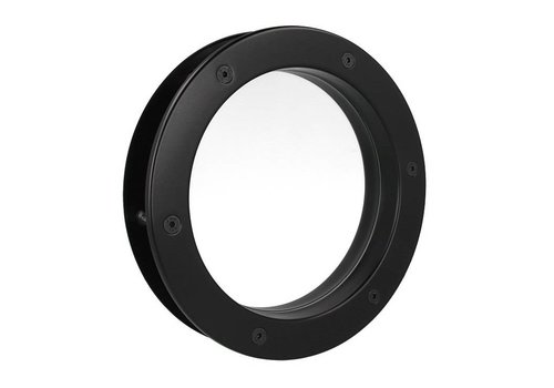 Black porthole B4000 250 mm + transparent safety glass