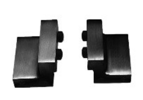 Set of 2 stoppers for sliding door system