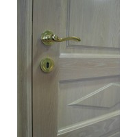 Titanium deurklinken Erica met sleutelplaatjes