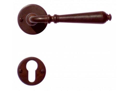 DOOR HANDLE ELEGEANCE RUST ROUND + CYL