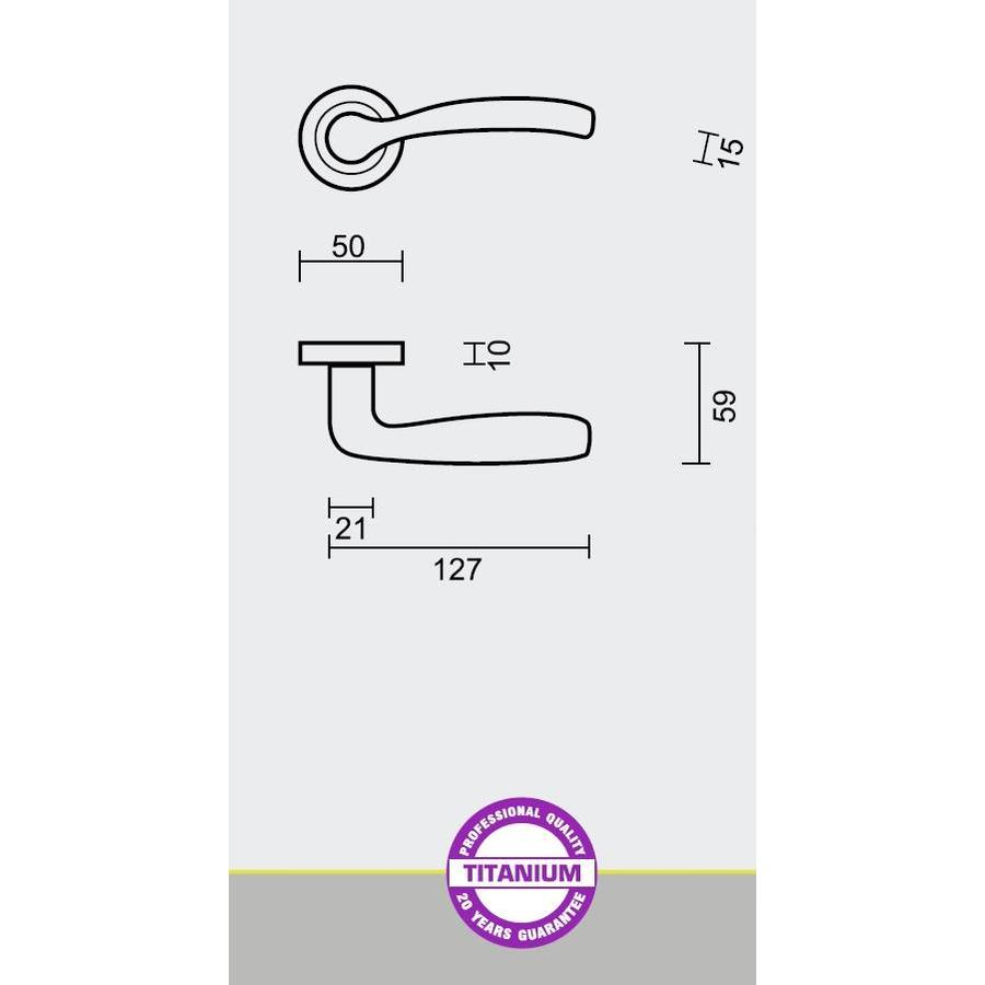 DEURKRUK EASY TITANIUM R+WC-SLOT
