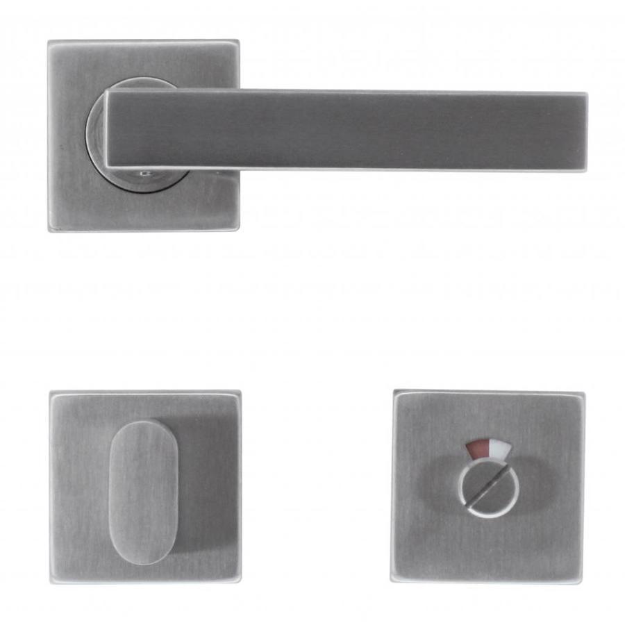 RVS deurklinken Cosmic met WC garnituur