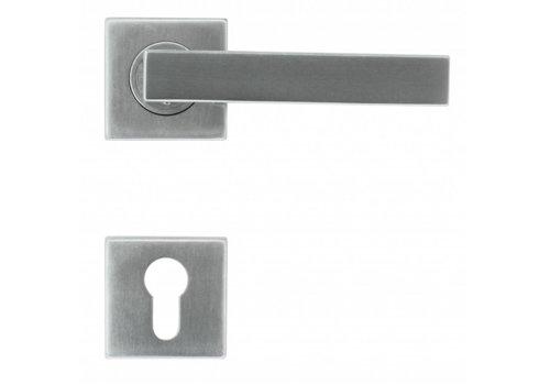 Stainless steel door handles Cosmic with PZ