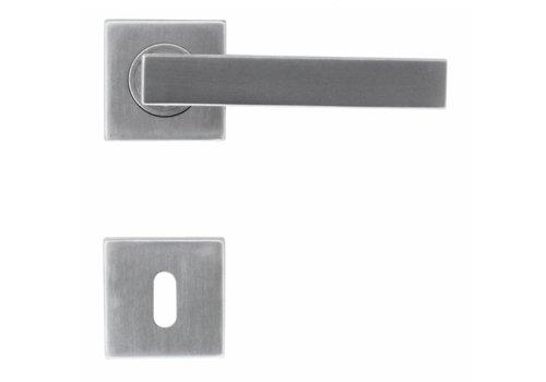 Stainless steel Cosmic door handles with key plates