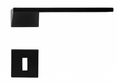 Poignées de porte noires Seliz avec plaques à clés