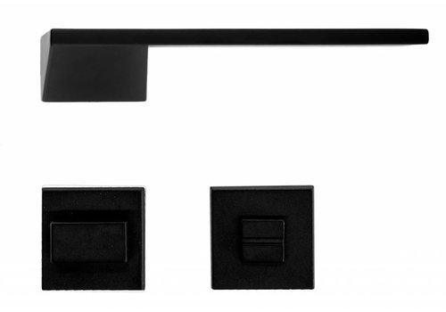 Poignées de porte noires Seliz avec WC