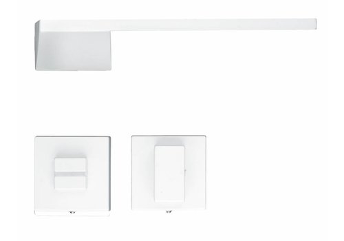 White Seliz door handles with WC