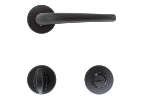 Zwarte deurklinken Lilla met WC