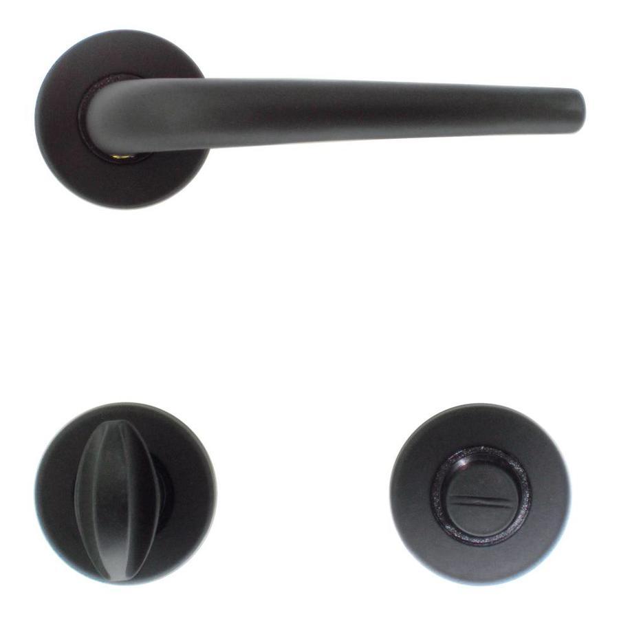 Zwarte deurklinken Lilla met WC garnituur