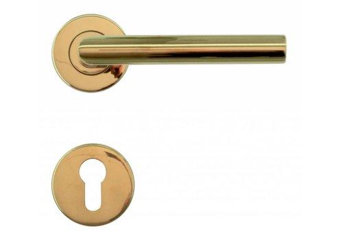 """Titanium deurklinken """"I Shape 19 mm"""" met PZ"""