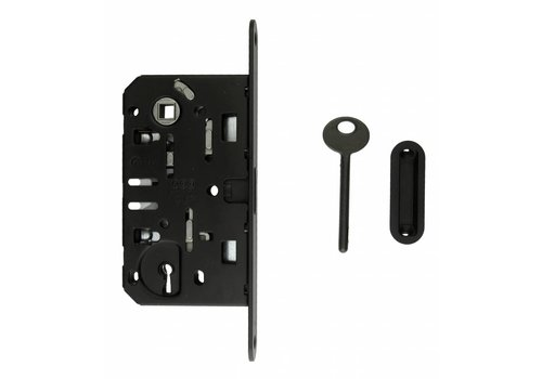 Black magnetic lock AGB - face plate 195x22mm - key shaft size 90mm