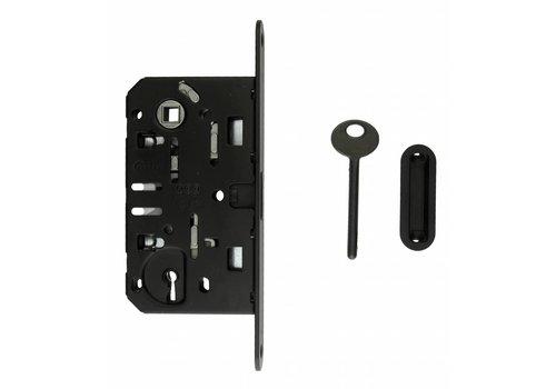 Serrure magnétique noire AGB - plastron 195x22mm - taille de l'arbre de clé 90mm
