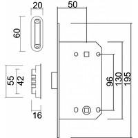 Slot magneet AGB 22mm voorplaat zwart WC 96mm