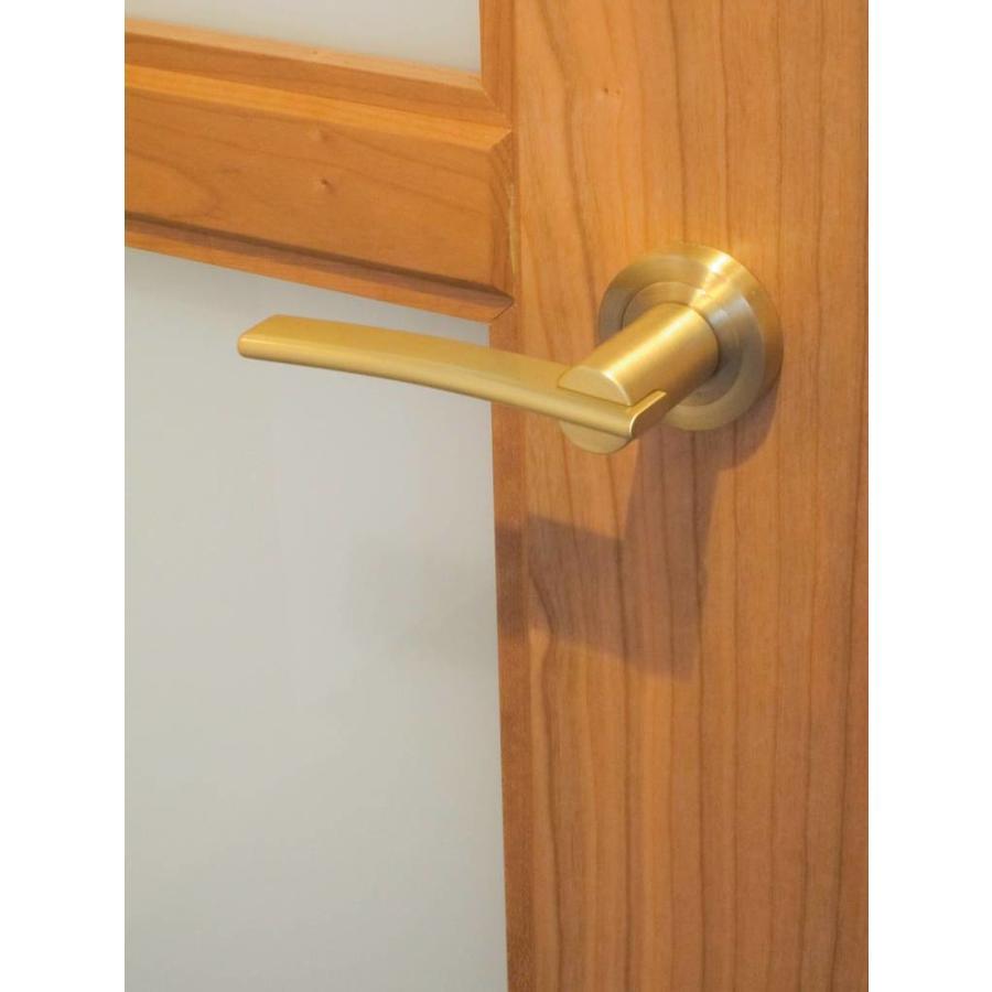deurklinken Mirca mat koper met sleutelplaatjes