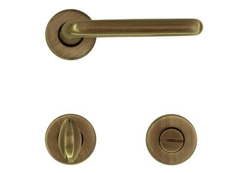 Bronze door handles Magda with WC