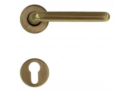 Bronze door handles Magda with PZ