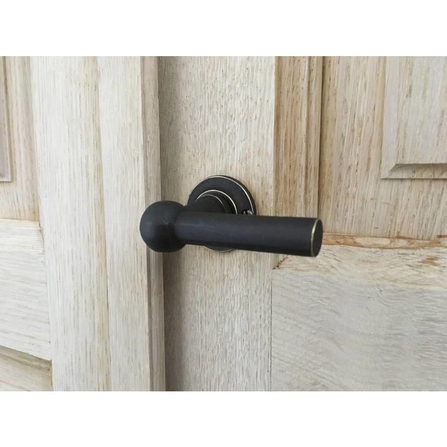 Old Brass deurklinken Petra T + T  met sleutelplaatjes