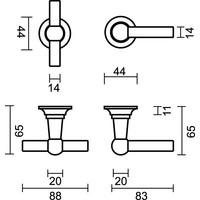 Deurkruk Petra met T+L combinatie in Old Brass + CYL