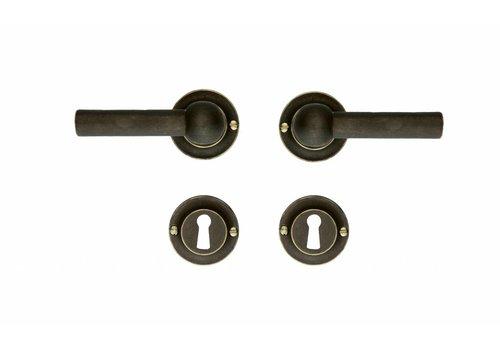 Old Brass door handles Petra L + L with BB