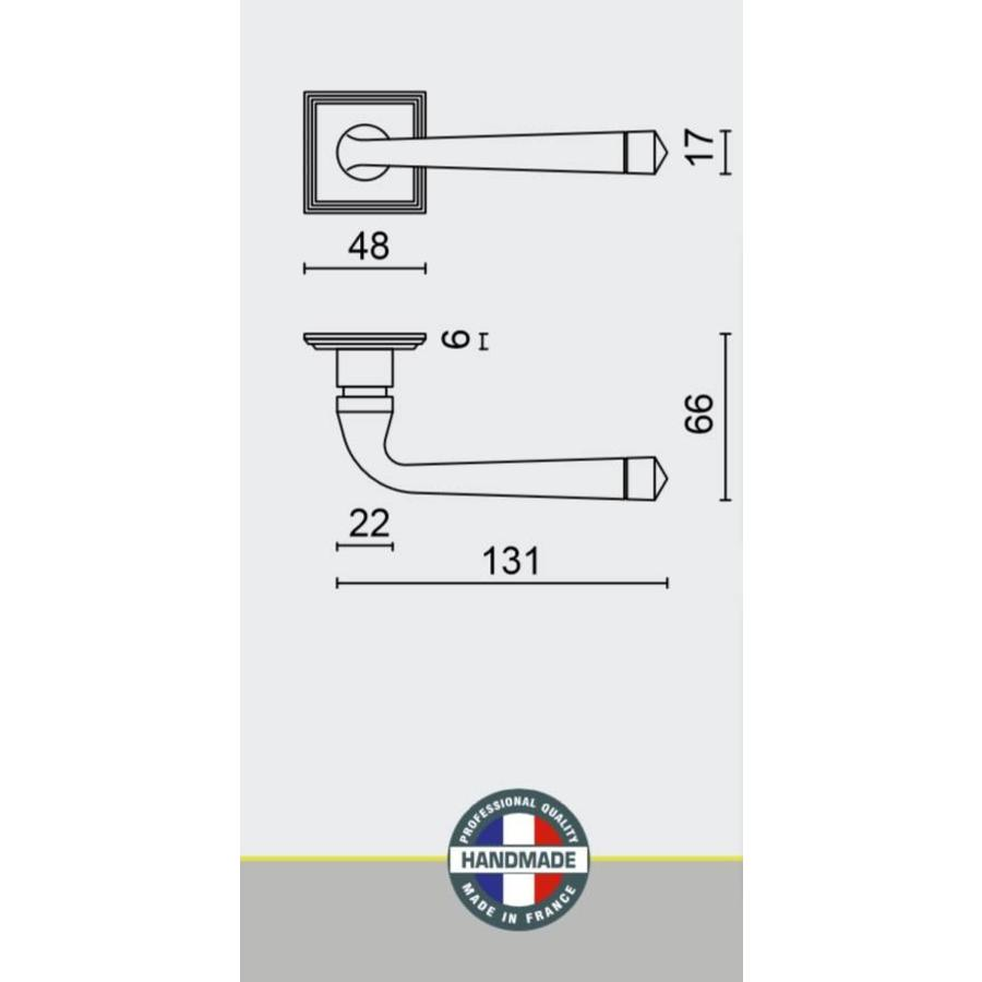 DEURKLINK ROYAL ROEST CARRE R+WC-SLOT