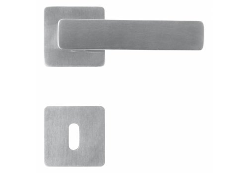 Poignées de porte en acier inoxydable Rondi avec plaques à clés