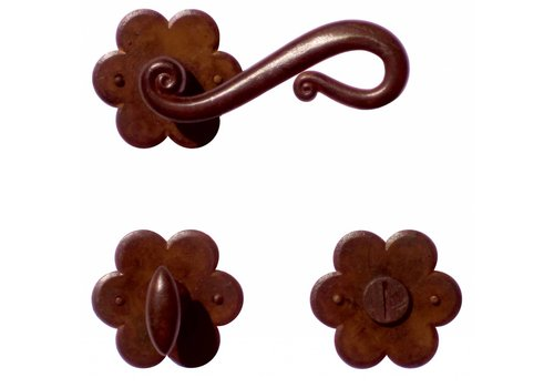 DOOR HANDLE ROMANA RUST FLOWER + WC