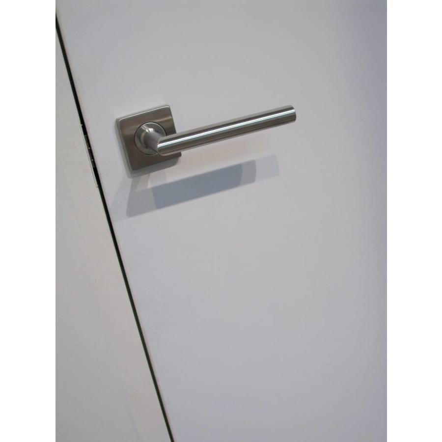 RVS deurklinken Square I shape 16 mm met sleutelplaatjes