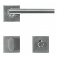 RVS deurklinken Square I shape 16 mm + wc