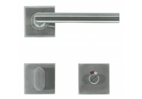 Stainless steel door handles Square I shape 16 mm + toilet