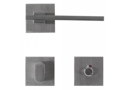 Stainless steel door handles 'Square 3' + WC