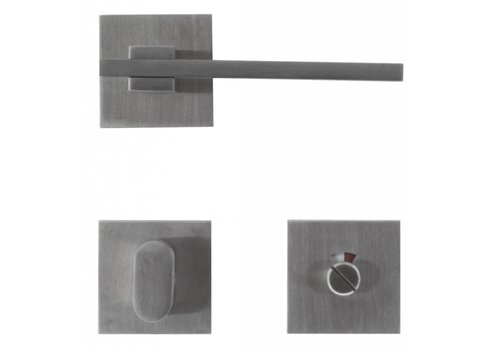 Stainless steel door handles 'Square 3' with WC