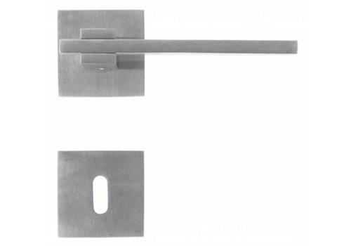 Poignées de porte en acier inoxydable 'Square 3' avec plaques à clés