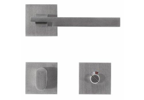 Poignées de porte en acier inoxydable 'Square 2' avec ensemble de toilette