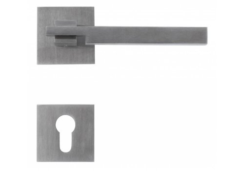 Stainless steel door handles 'Square 2' with PZ