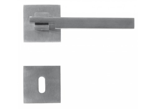 RVS deurklinken 'Square 2' met sleutelplaatjes