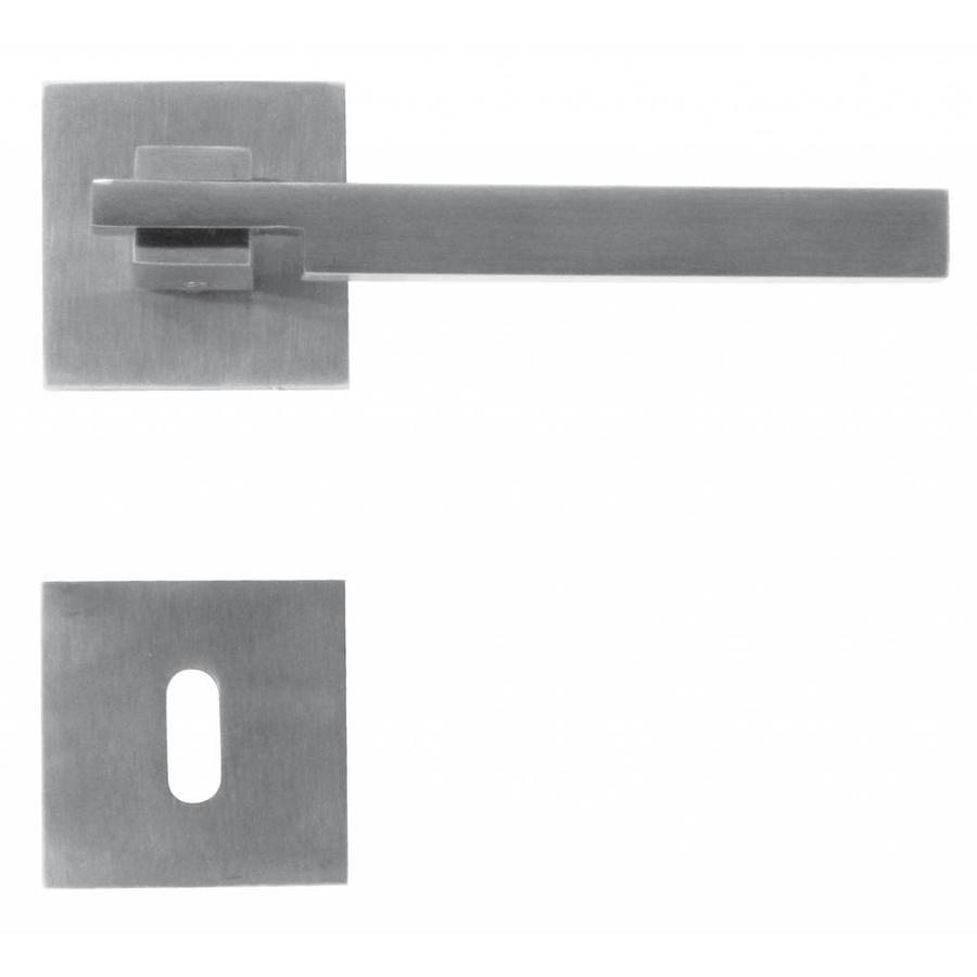 Massieve RVS deurklinken 'Square 2' met sleutelplaatjes