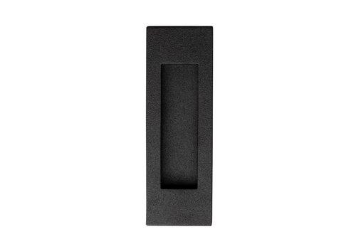 Bol rectangulaire à porte coulissante en acier inoxydable noir