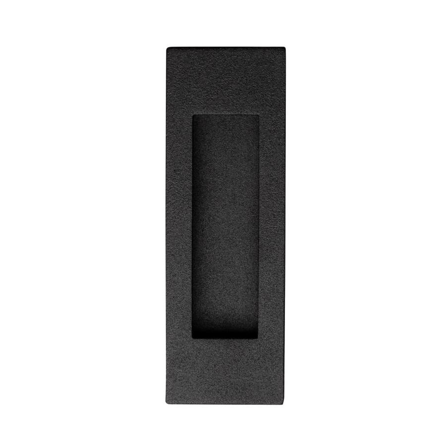 Rechthoekige schuifdeurkom met mat zwarte structuurlak