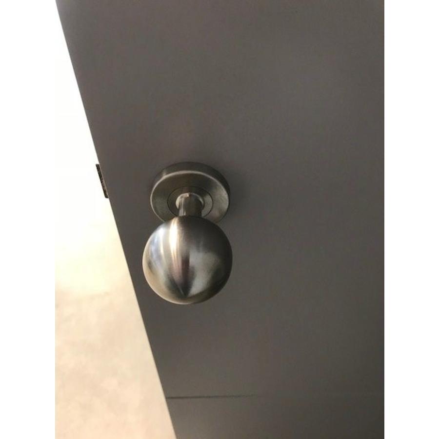 Deurklinken/deurknoppen Boccia rvs look met sleutelplaatjes